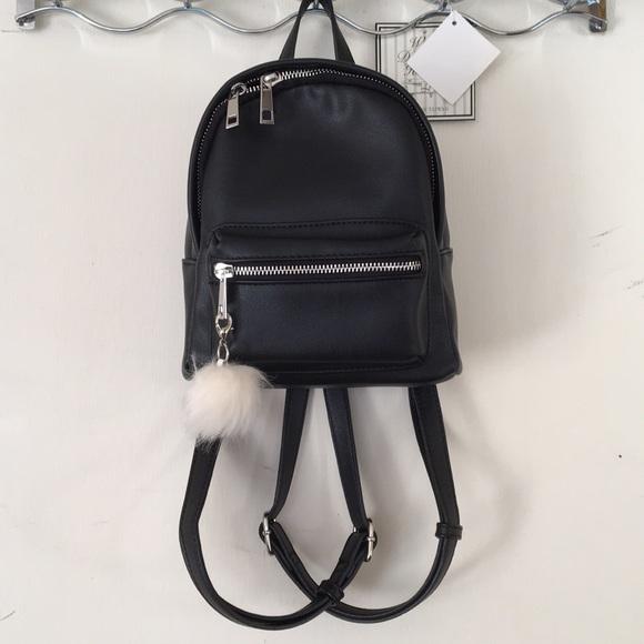 d0eb81d2e3 nordstrom BP black leather mini backpack. M 5a6e54905521beb2f12882db